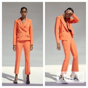Zara tangerine 2 pieces pant suit